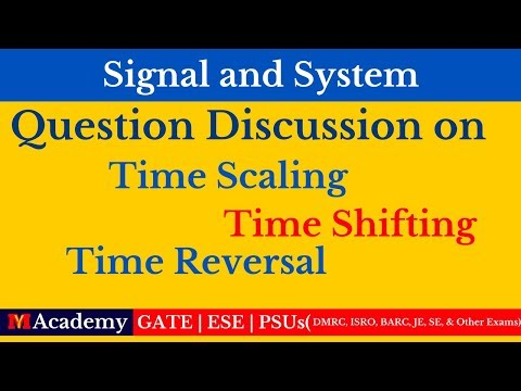 Question Discussion On Time Shifting, Time Scaling, & Time R