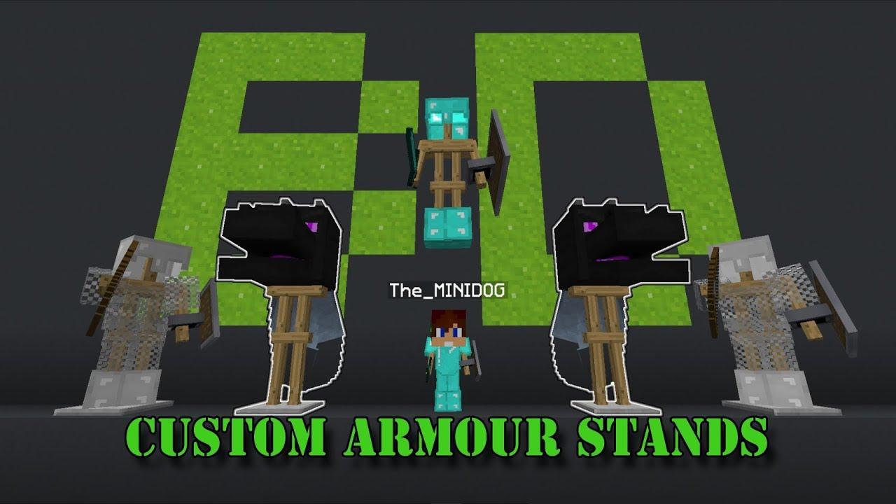 Minecraft 1 12+/1 13+ Custom Armor Stands (NO MODS !)