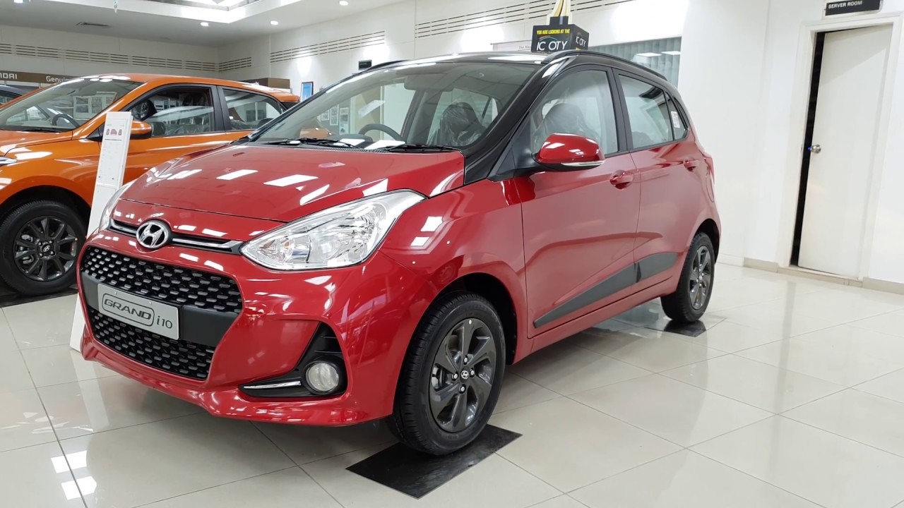 Hyundai Grand I10 Sportz Dual Tone Fiery Red And Black Full