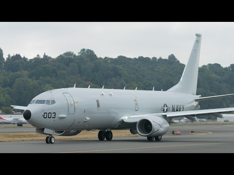 P-8A Poseidon Delivery to NAS Jacksonville from Boeing Field
