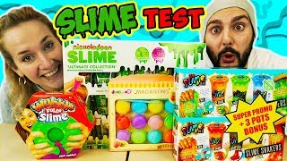 MEGA SLIME HAUL - Kaan & Nina im ULTIMATIVEN SLIME TEST - Nickelodeon VS DIY Schleim, Macaron Slime