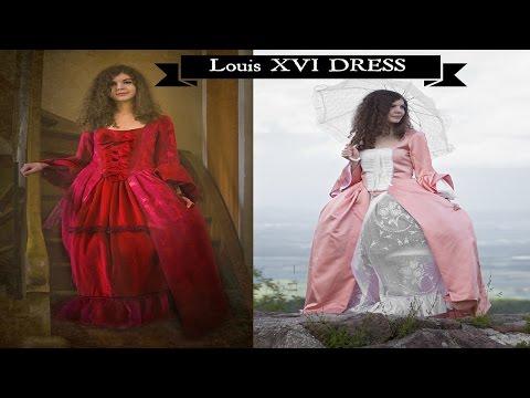 2 Robes d'époque Renaissance Louis XVI - Présentation Creations Mode