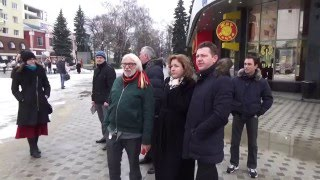 Пьер Ришар гуляет по Воронежу
