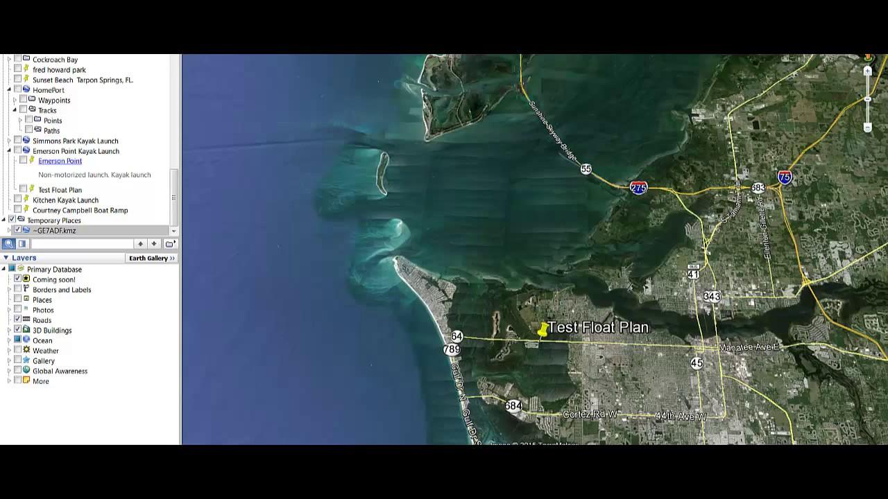 Boating Float Plan Using Google Earth Pro