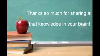 Thank you, teachers, thank you