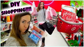 SHOPPING FOR DIYS!!!!! Vlogmas Day 8!! Thumbnail
