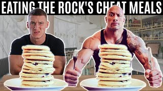 Bodybuilder tries The Rock's Cheat Day Meals *10,000 CALORIES*