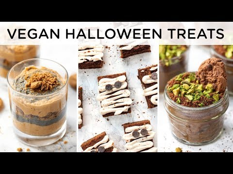 HEALTHY HALLOWEEN TREATS ‣‣ easy vegan recipes for halloween