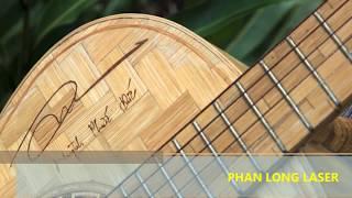 Khắc Đàn Guitar bằng máy laser theo yêu cầu giá rẻ