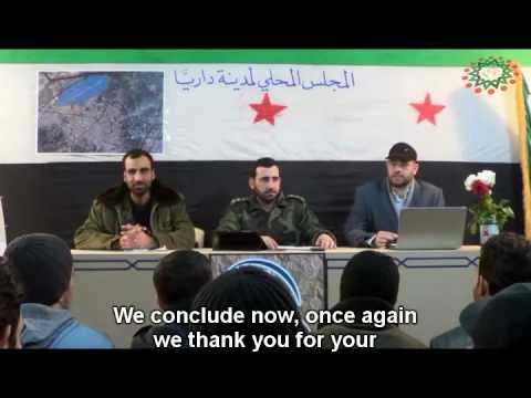 The First Daraya local council press conference