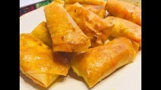 春卷 素春卷 最好吃又省油的蔬菜春卷做法 Vegetable Roll Recipe 野菜の春巻き야채 스프링 롤