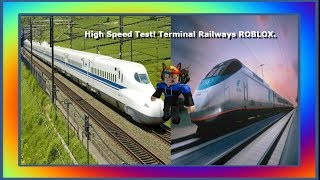 High Speed Test, Bullet Train Vs. Acela! | Terminal Railways ROBLOX