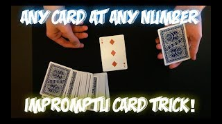 Any Card At Any Number! Great Card Trick Performance And Tutorial!