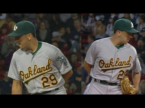 Switch-pitcher Venditte makes his MLB debut