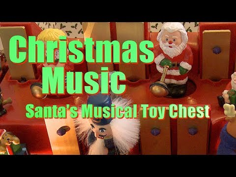 Santa's Musical Toy Chest Christmas Music Box