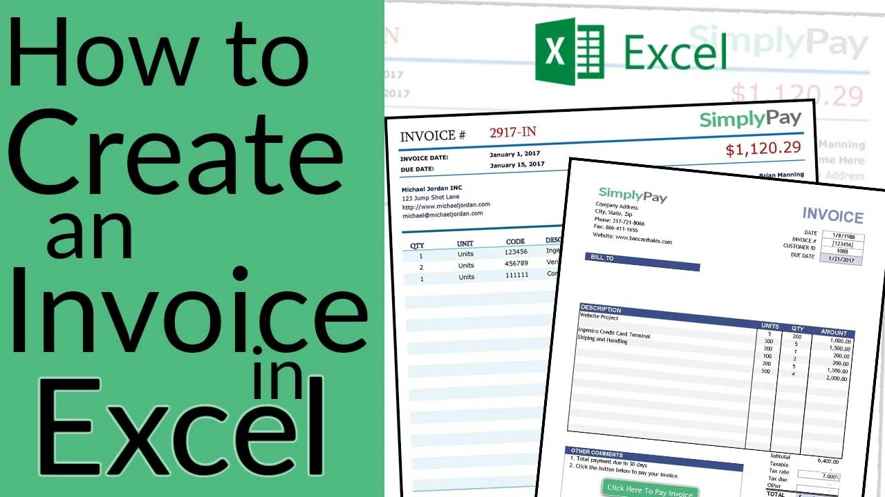 How To Create an Invoice in Excel + Free Invoice Template Download