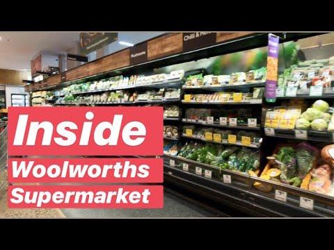 INSIDE WOOLWORTHS SUPERMARKET - walk tour inside Australia's largest supermarket chain