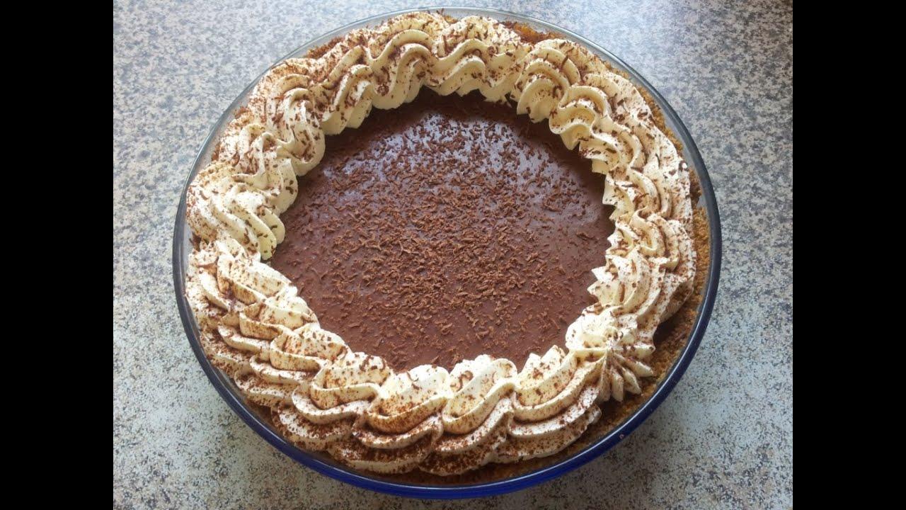 Easy Chocolate Mousse & Biscuit Dessert recipe idea - YouTube
