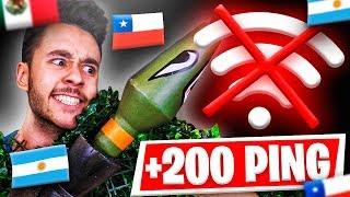 Juego con un CHILENO y un ARGENTINO a +200 PING en Fortnite - TheGrefg