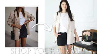 SHOP YOUR CLOSET | Create New Looks By Using Old Clothes