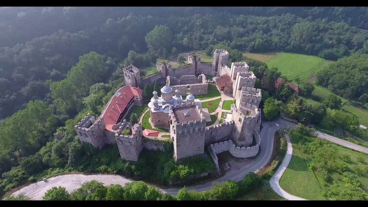 Dji Phantom 4 >> Manasija (Resava) Monastery, Despotovac, Serbia - YouTube