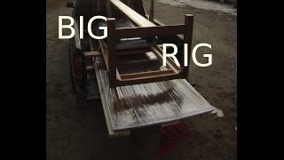 "Reclaimed Wood ""big Rig"" Table (part 6/6) - Finishing"