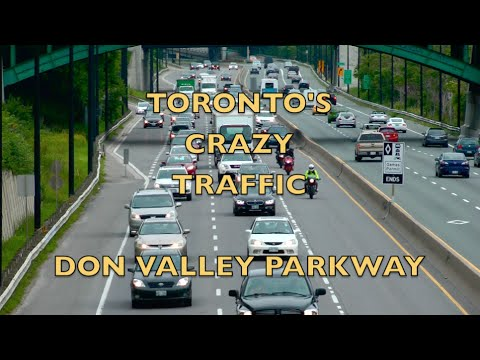 Toronto's Crazy Traffic During Pan-Am Games - Don Valley Parkway @ 5 PM