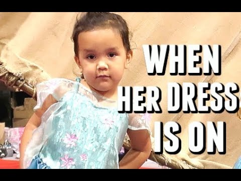 Attitude change when she puts on the dress  - July 16, 2017 -  ItsJudysLife Vlogs