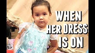 Attitude change when she puts on the dress  - July 16, 2017 -  ItsJudysLife Vlogs