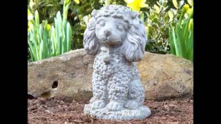 Dog Statues. Video Of Memorial Dog Sculptures With Fun Sayings.