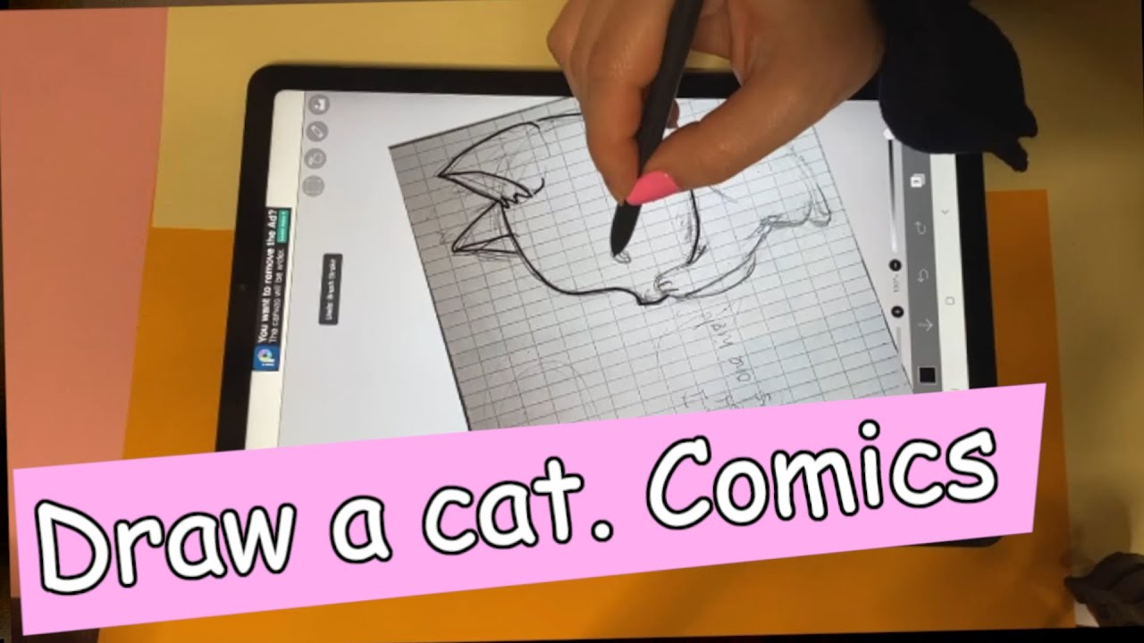 "How to draw a cat: drawing my comics, episode ""Funny tales about stray kitten"" part 2"