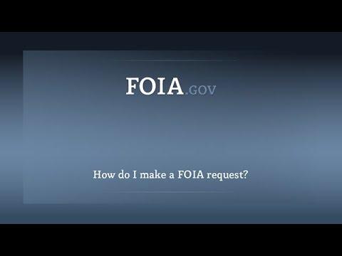 How do I make a FOIA request?