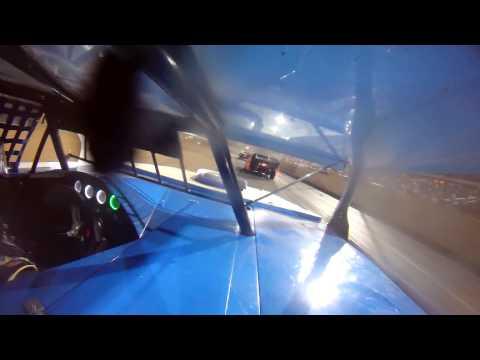"""Lucas Oil Speedway USRA A mod A feature """"Show Me 100 weekend"""" Shannon Scott in car"""