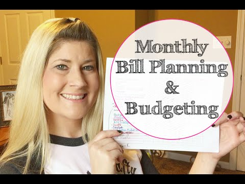 Monthly Bill Planning & Budgeting