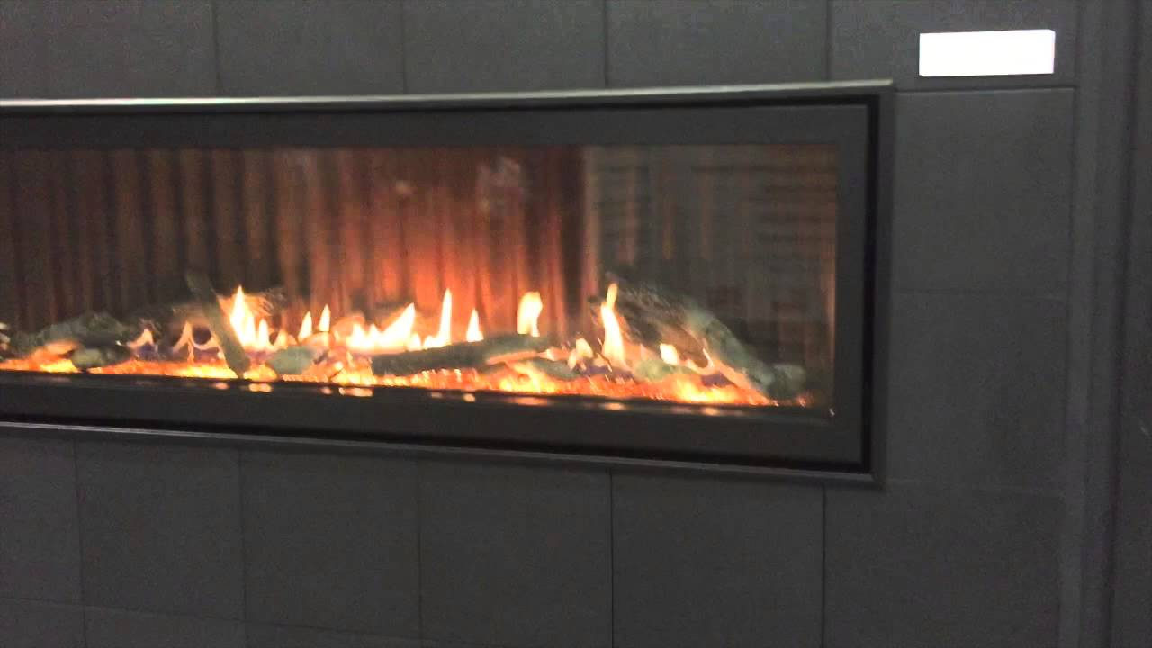 boulevard 60 direct vent linear fireplace youtube