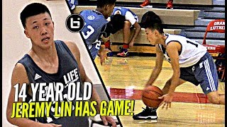 14 year old jeremy lin getting buckets!! shows off major game at ballislife jr all american