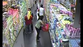 CCTV AKSI KOMPLOTAN PENCURI SUSU DI SUPERMARKET - SURABAYA
