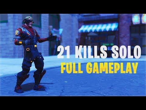 21 Kills Solo |Console - Fortnite Gameplay