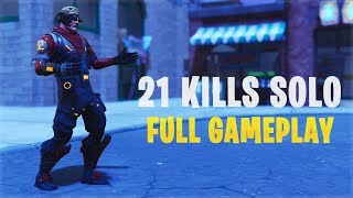 21 Kills Solo  Console - Fortnite Gameplay