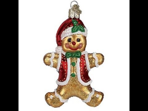 trendy ornaments gingerbread boy christmas ornament from old world christmas - Merck Family Old World Christmas