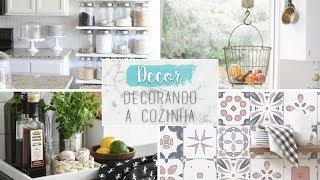 Dicas e inspirações para decorar a cozinha gastando pouco - Estilo #Pinterest | Unique Home