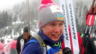 Анастасія Меркушина про свою стрільбу і біг в естафеті