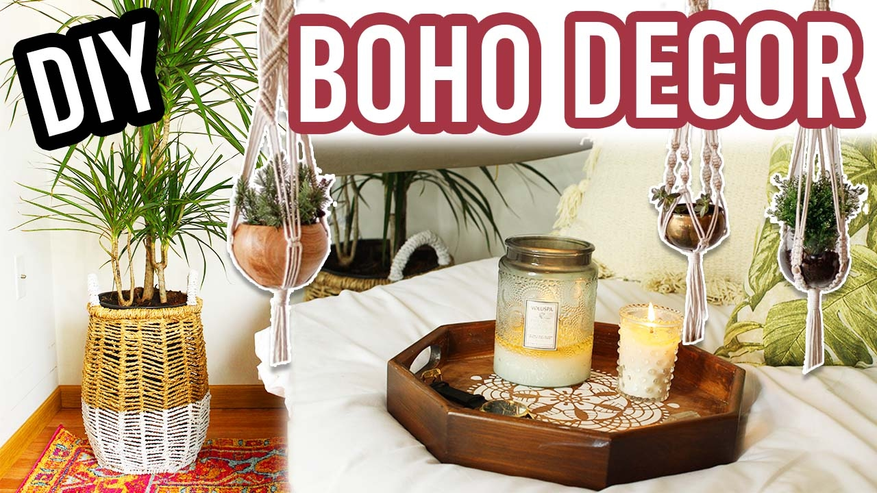 diy bohemian room decor  youtube tumblr room decor diy 2017 cute room decor diy 2017