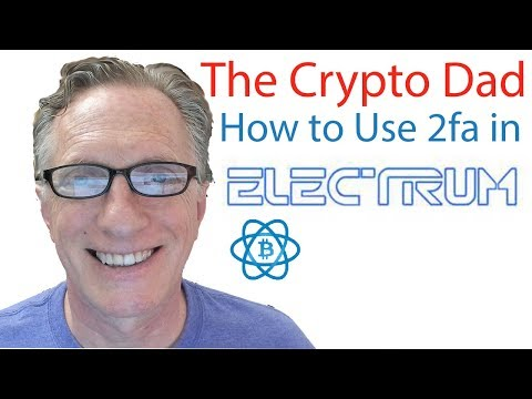 How to use 2fa in Electrum