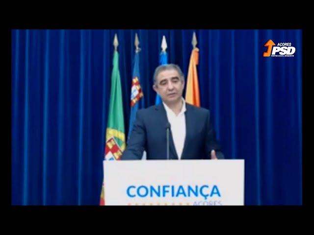 Vídeoconferência de imprensa de José Manuel Bolieiro