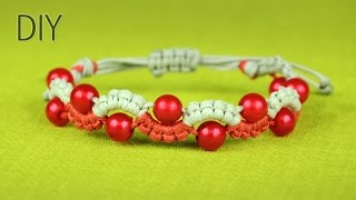 Easy Wave or Snake Bracelet with Beads - Tutorial