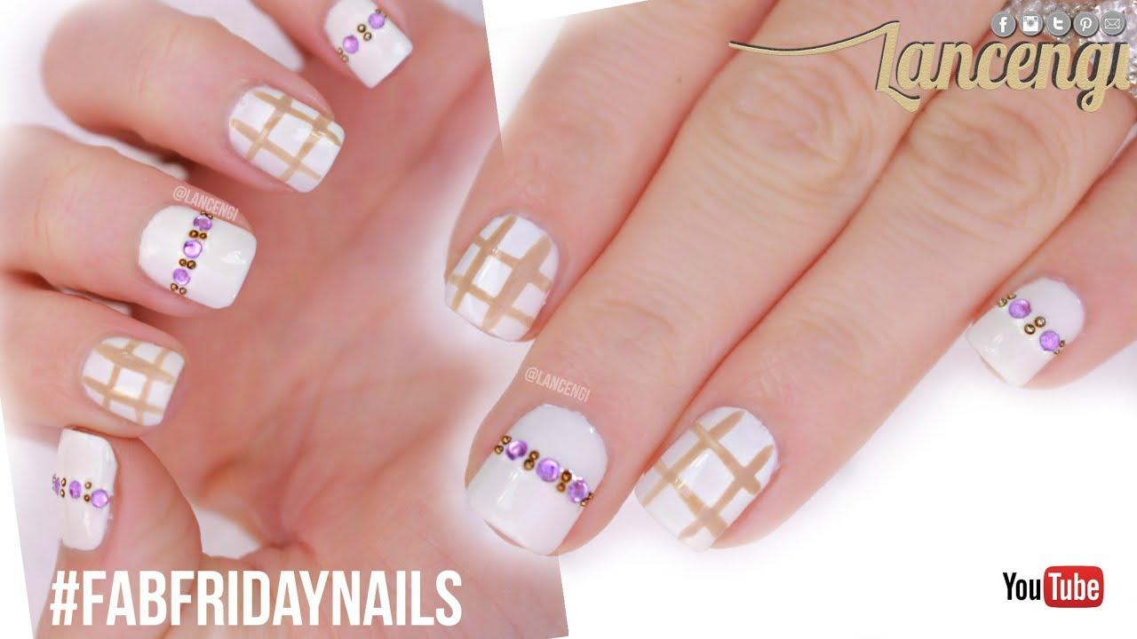 Diy cute easy nail art for beginners classy nail designs fab friday nails 13 youtube Diy nail art ideas youtube