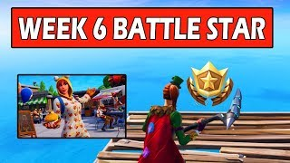 SECRET WEEK 6 BATTLE STAR LOCATION! SECRET BANNER LOCATION WEEK 6 FORTNITE (FREE TIER)