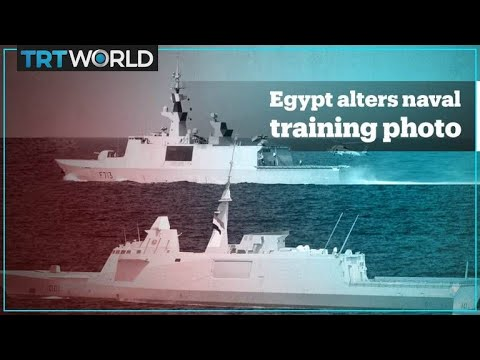 Egypt's maritime training photos with France appear to be 'photoshopped'