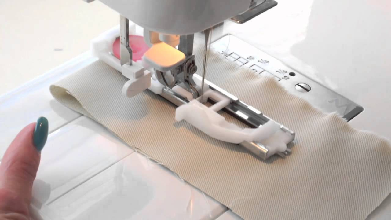 How to use an Automatic Button Hole Foot